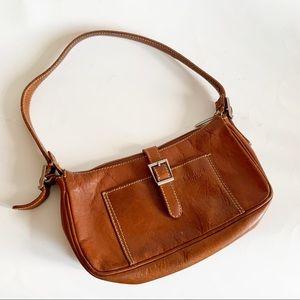 Vintage Brown Leather Firenze Mini Shoulder Bag